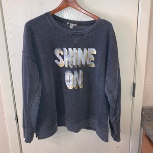 Shine on sweater shirt